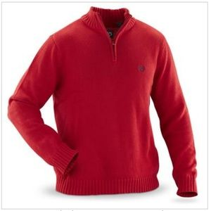 Chaps® 1/ 4 -zip Sweater, size L, like new.